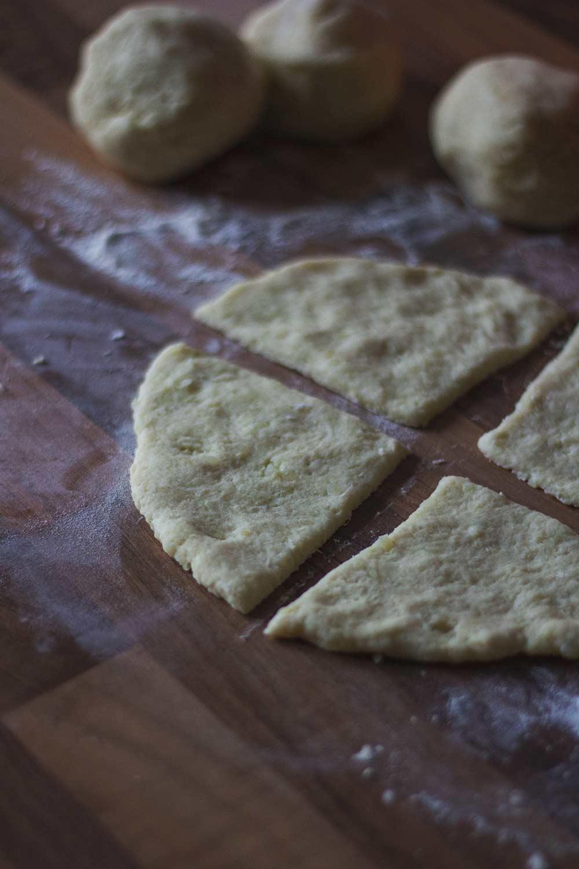 Potato scone dough ready for cooking