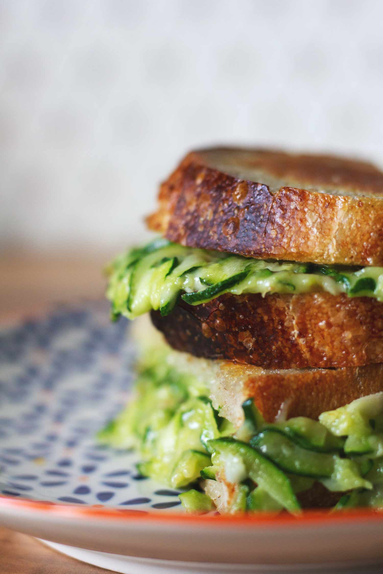 Courgette grilled cheese